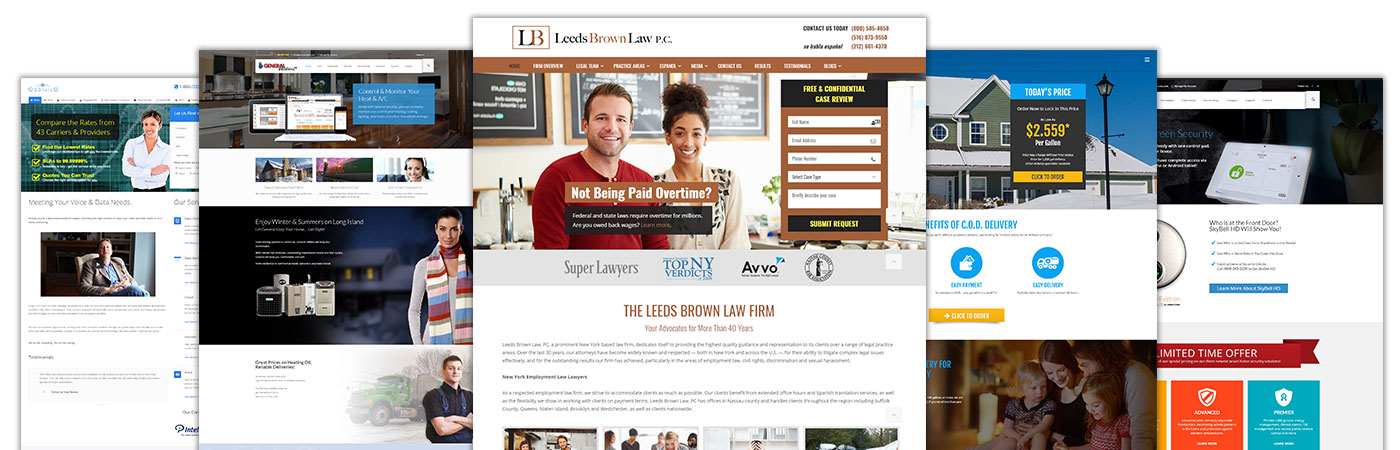 Sample Websites Designed On Long Island